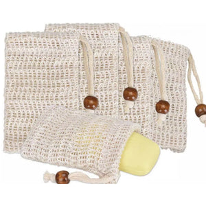 Natural Sisal Soap bag - Pack of 3