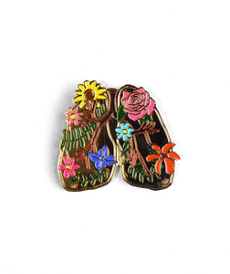 Enamel Flower Lungs Lapel Pin