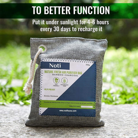 Image of Nature Fresh Air Purifier Bags - Activated Bamboo Charcoal Air Purifying Bag
