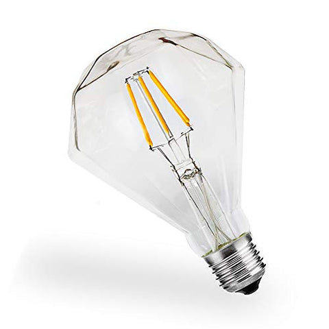 Vintage LED Edison Bulbs, 4W E26 / E27 Screw 4000k Warm White Creative Tungsten Filament Antique Lamp Bulbs