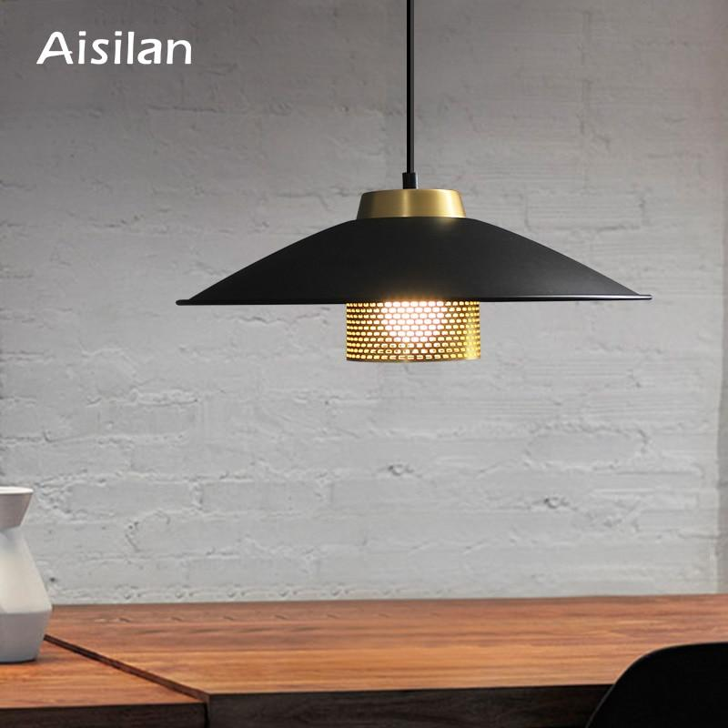Aisilan LED Dining Room Lamp Nordic Artistic Metal Pendant Light New Release Minimalist Bar Study Cafe Hang Lamp Bedside Lamp