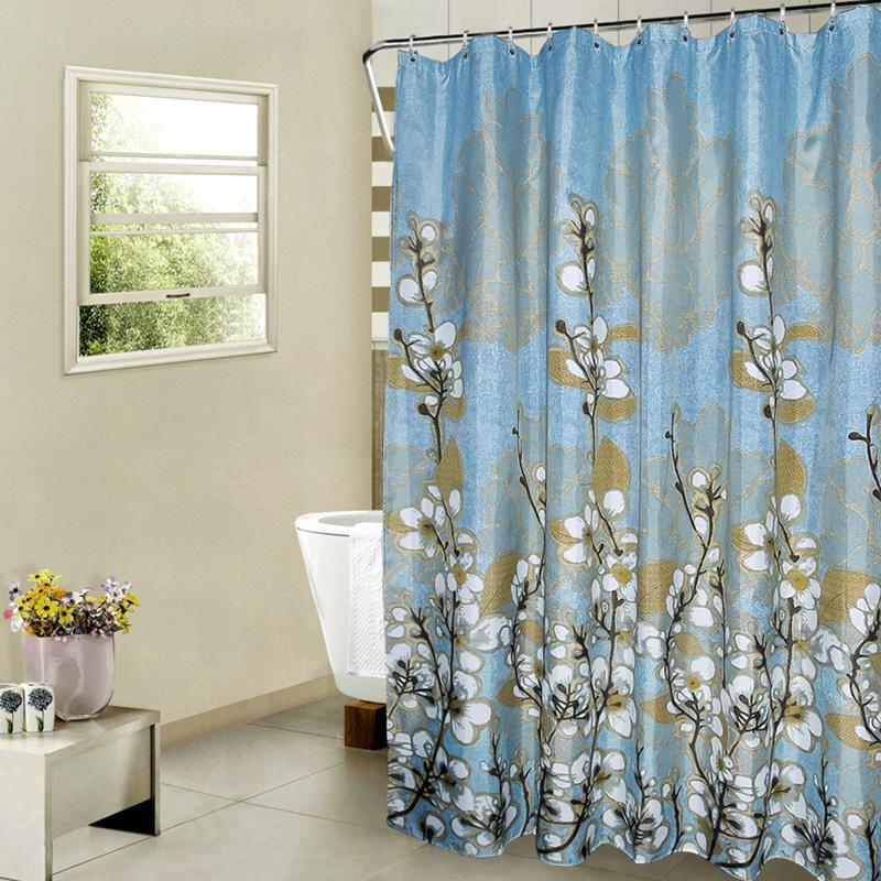Noti Home Blue Forest Shower Curtain