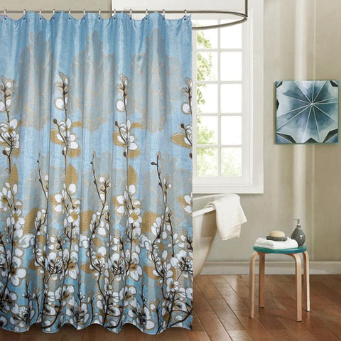 Image of Noti Home Blue Forest Shower Curtain