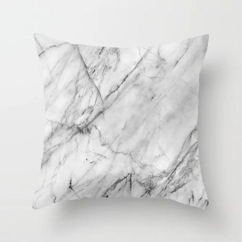 Image of DRAMAQUEEN - GOLD INDIGO MARBLE Throw Pillow