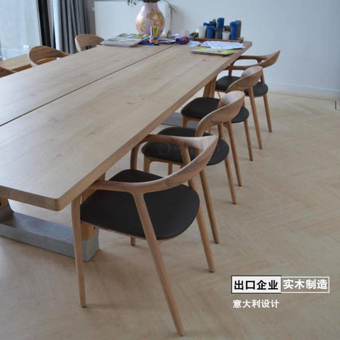 Designer chair back Nordic solid wood modern minimalist Hiroshima President Kennedy chair dining chair new Chinese style