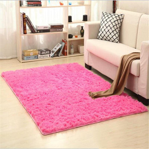 Image of Fiber Soft Carpets For Living Room Bedroom Kid Room Rugs Shaggy Solid Delicate Style-carpets-Eills Collection-13-200X300cm-Eills Collection