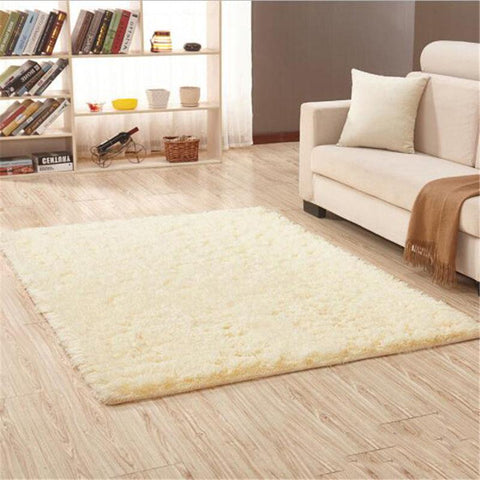 Image of Fiber Soft Carpets For Living Room Bedroom Kid Room Rugs Shaggy Solid Delicate Style-carpets-Eills Collection-15-200X300cm-Eills Collection