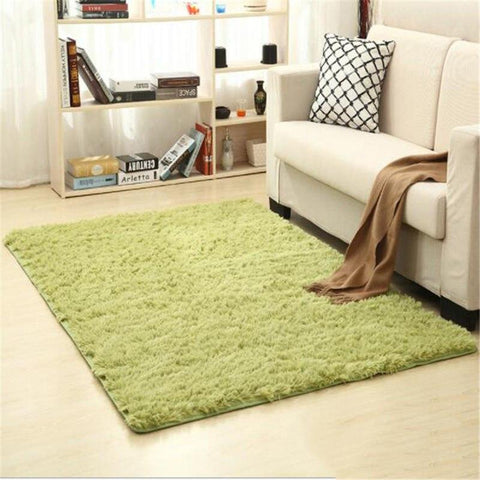 Image of Fiber Soft Carpets For Living Room Bedroom Kid Room Rugs Shaggy Solid Delicate Style-carpets-Eills Collection-11-200X300cm-Eills Collection