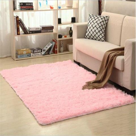 Image of Fiber Soft Carpets For Living Room Bedroom Kid Room Rugs Shaggy Solid Delicate Style-carpets-Eills Collection-6-200X300cm-Eills Collection