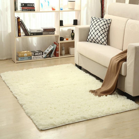 Image of Fiber Soft Carpets For Living Room Bedroom Kid Room Rugs Shaggy Solid Delicate Style-carpets-Eills Collection-Eills Collection