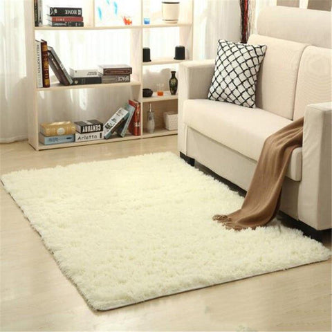 Image of Fiber Soft Carpets For Living Room Bedroom Kid Room Rugs Shaggy Solid Delicate Style-carpets-Eills Collection-7-200X300cm-Eills Collection
