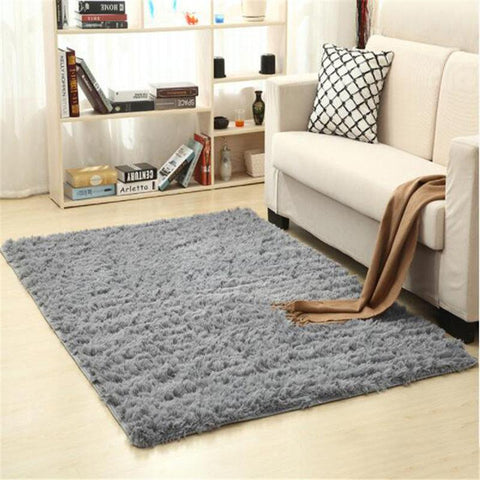 Image of Fiber Soft Carpets For Living Room Bedroom Kid Room Rugs Shaggy Solid Delicate Style-carpets-Eills Collection-1-200X300cm-Eills Collection