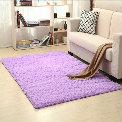 Image of Fiber Soft Carpets For Living Room Bedroom Kid Room Rugs Shaggy Solid Delicate Style-carpets-Eills Collection-3-200X300cm-Eills Collection