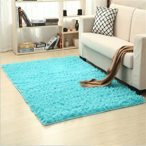 Image of Fiber Soft Carpets For Living Room Bedroom Kid Room Rugs Shaggy Solid Delicate Style-carpets-Eills Collection-12-200X300cm-Eills Collection