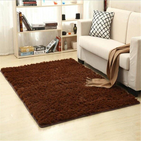 Image of Fiber Soft Carpets For Living Room Bedroom Kid Room Rugs Shaggy Solid Delicate Style-carpets-Eills Collection-10-200X300cm-Eills Collection