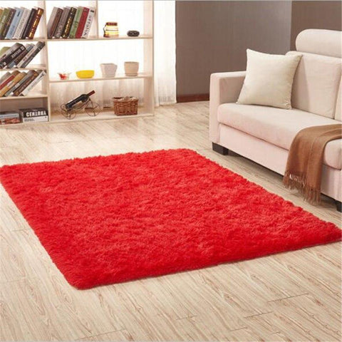 Image of Fiber Soft Carpets For Living Room Bedroom Kid Room Rugs Shaggy Solid Delicate Style-carpets-Eills Collection-2-200X300cm-Eills Collection
