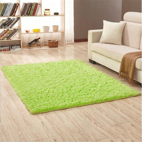Image of Fiber Soft Carpets For Living Room Bedroom Kid Room Rugs Shaggy Solid Delicate Style-carpets-Eills Collection-8-200X300cm-Eills Collection