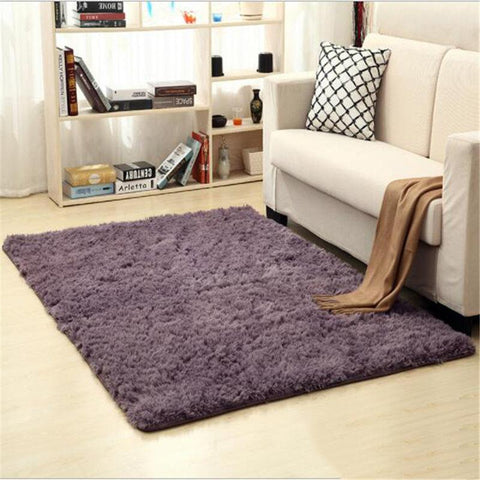 Image of Fiber Soft Carpets For Living Room Bedroom Kid Room Rugs Shaggy Solid Delicate Style-carpets-Eills Collection-4-200X300cm-Eills Collection