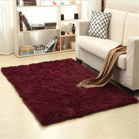 Image of Fiber Soft Carpets For Living Room Bedroom Kid Room Rugs Shaggy Solid Delicate Style-carpets-Eills Collection-14-200X300cm-Eills Collection