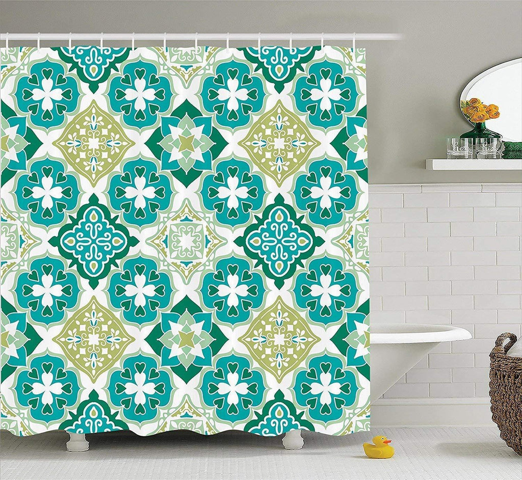 Noti Home Green Leaf Shower Curtain
