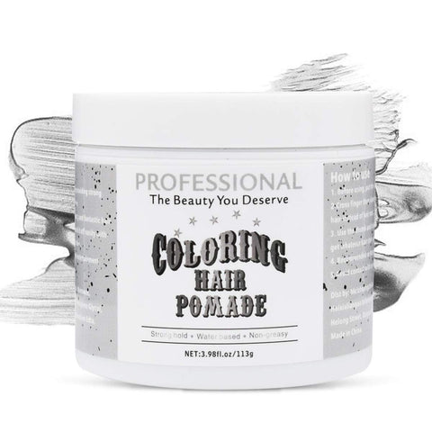 Gear Cool Hair Coloring Pomade Temporary Hair Dry Pomade for Party or Daily Use Cosplay Instant Styling, Hair Dye Wax Professional Natural Coloring Hair Pomades, Hair Styling Cream Mud