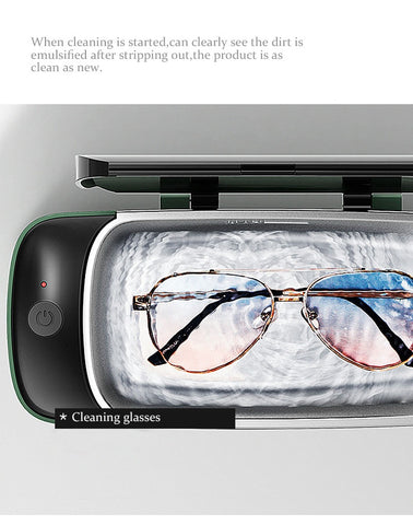Image of Mini Ultrasonic Cleaner Glasses Cleaning Machine