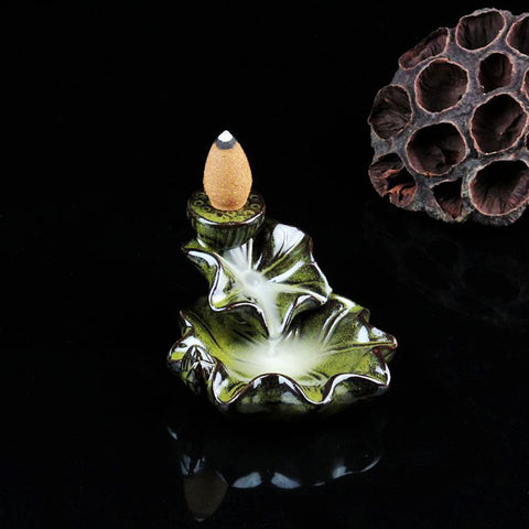 Image of Waterfall Backflow Incense Burner Cone Stick Holder