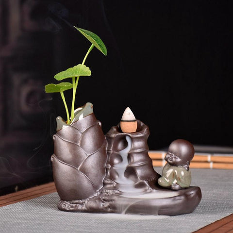 Image of Mountain River Small Monk Backflow Incense Holder