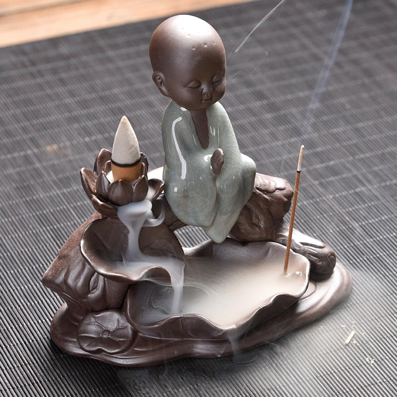 small buddha backflow incense burner
