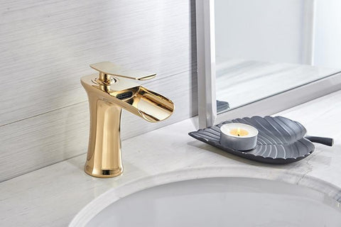 Image of Noti Home Waterfall Single Handle Basin Faucet