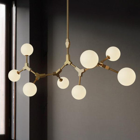Image of Noti Home Glob-Nordic Style Milk White Spheres Pendant Lamp