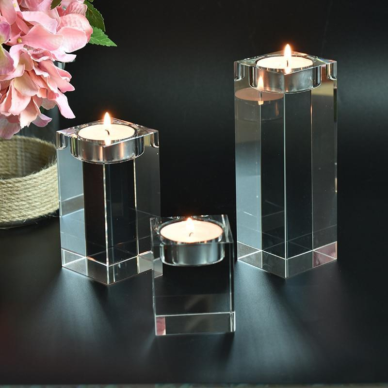 Noti Home Crystal Candle Holders Set