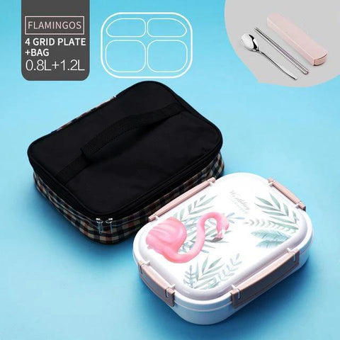 Image of Noti Home Art Stainless Steel Multi-Compartment Leak Proof Lunch Box