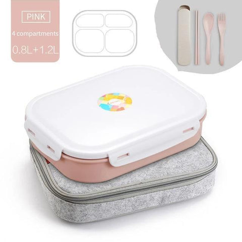 Image of Art Stainless Steel Multi-Compartment Leak Proof Lunch Box
