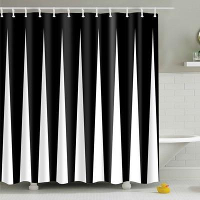 Noti Home The Black & White Contrast Shower Curtain