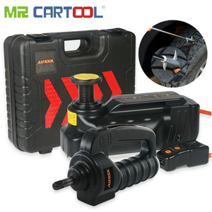 Mr Cartool 12V DC 3T Car Jacks Hydraulic Jack SUV Off-road Lifting Vehicle  Electric Impact Wrench Tire Clean Stone Tool A Gift