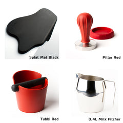 Pillar Tamper starter kit with Splat Mat Black