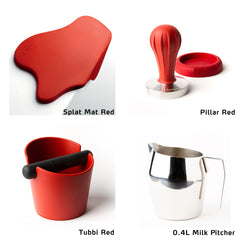 Pillar Tamper starter kit with Splat Mat Red