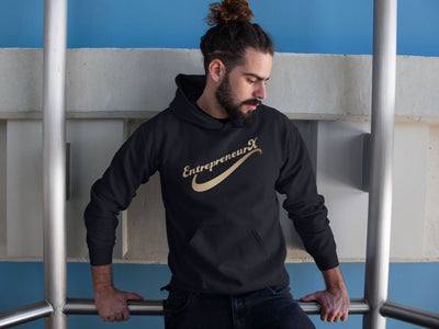EntrepreneurX HoodieHoodieEntrepreneurKing.coBlackM motivational quotes entrepreneur inspirational quotes