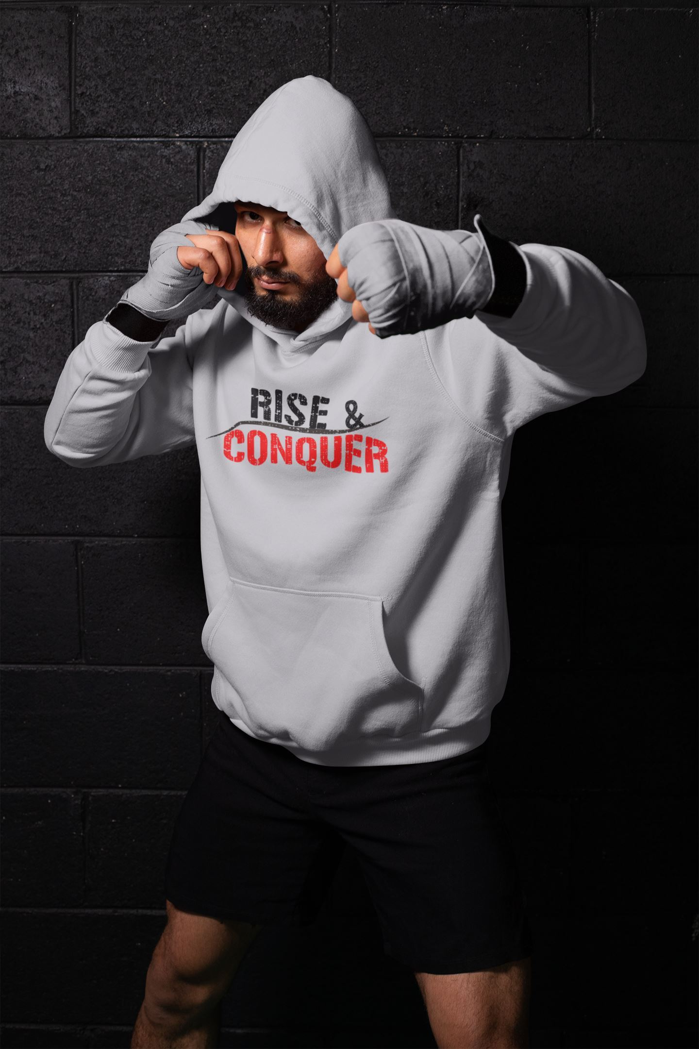 Rise& Conquer HoodieHoodieEntrepreneurKing.coM motivational quotes entrepreneur inspirational quotes