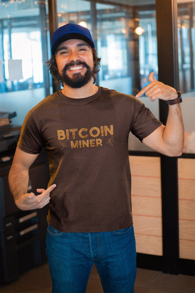 Bitcoin Miner TeeT-shirtEntrepreneurKing.coOxblood BlackS motivational quotes entrepreneur inspirational quotes