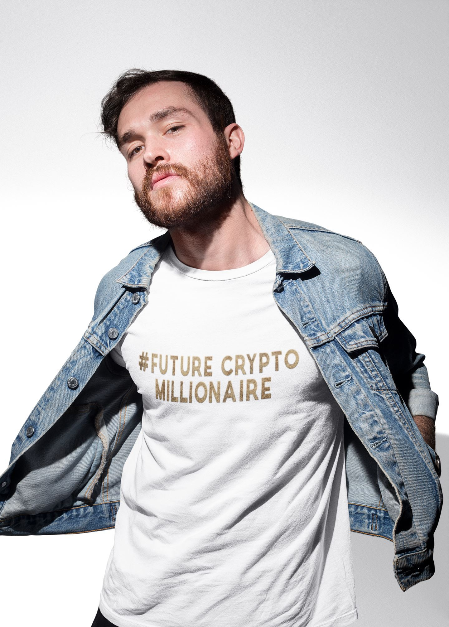 #Future Crypto Millionaire T-shirt EntrepreneurKing.co White S