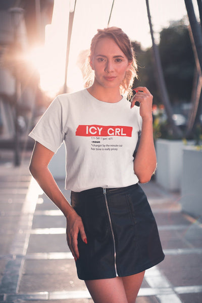 Icy Grl TeeWomen T-shirtEntrepreneurKing.coWhiteS motivational quotes entrepreneur inspirational quotes