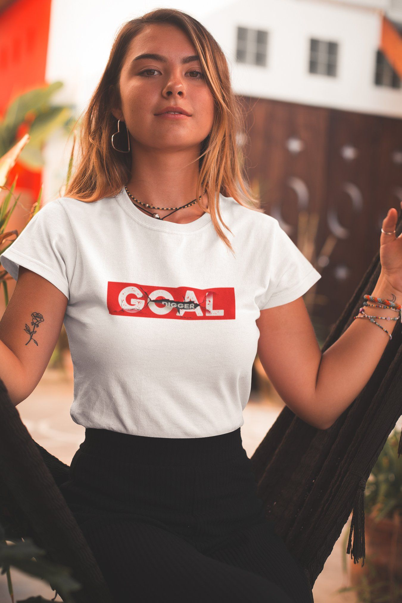 Goal Digger TeeWomen T-shirtEntrepreneurKing.coWhiteS motivational quotes entrepreneur inspirational quotes