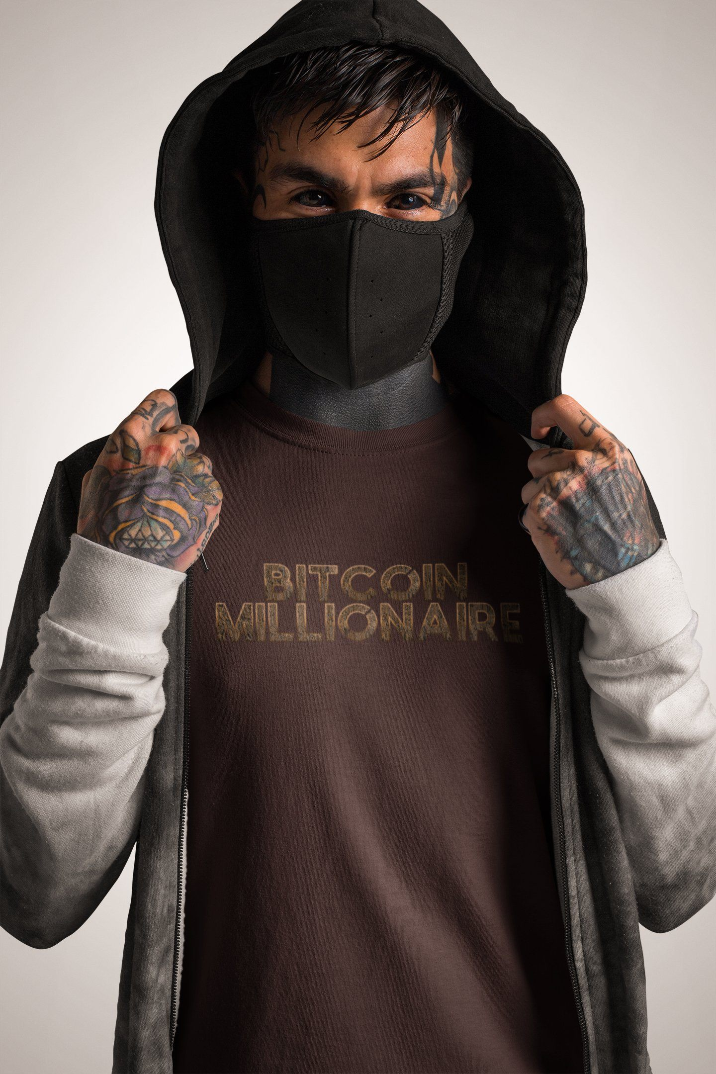 Bitcoin Millionaire T-shirtT-shirtEntrepreneurKing.coOxblood BlackS motivational quotes entrepreneur inspirational quotes