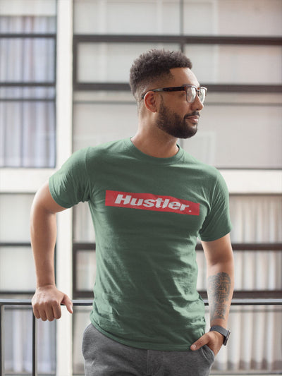 The Hustler T-shirt T-shirt EntrepreneurKing.co Heather Forest S