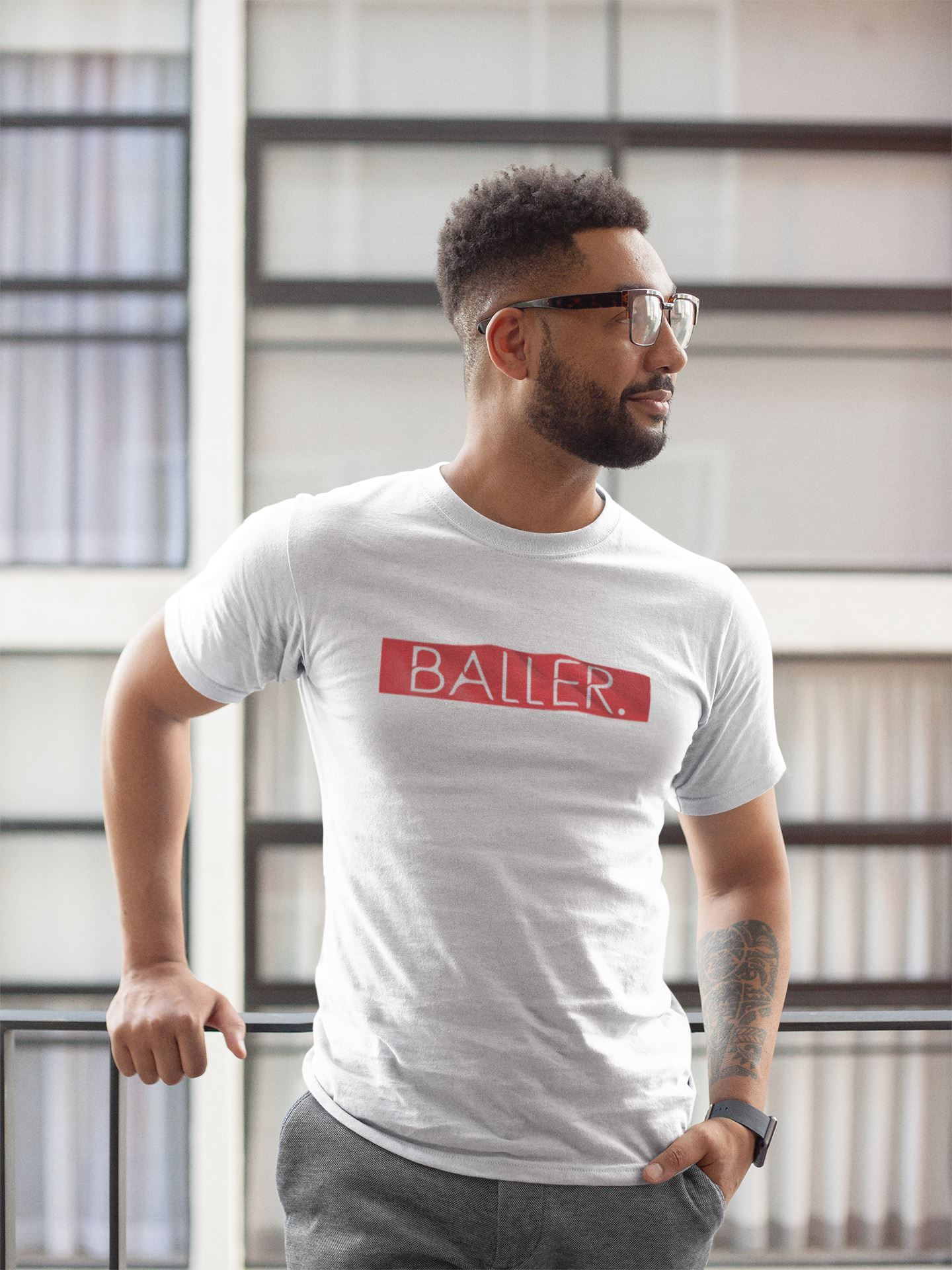 Baller T-Shirt T-shirt EntrepreneurKing.co White S