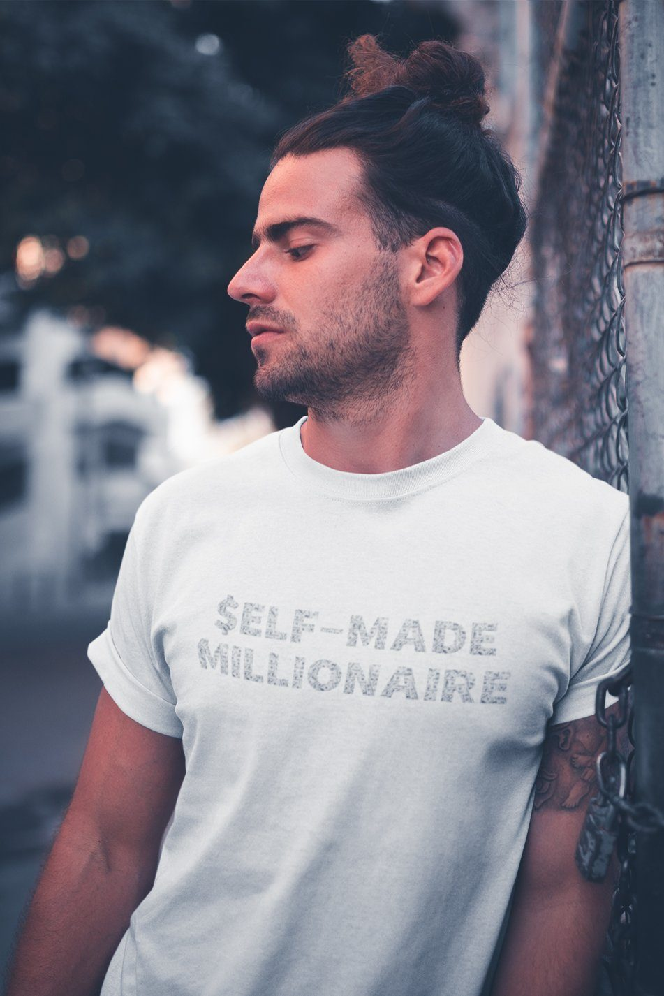 Self-Made Millionaire TeeT-shirtEntrepreneurKing.coWhiteS motivational quotes entrepreneur inspirational quotes