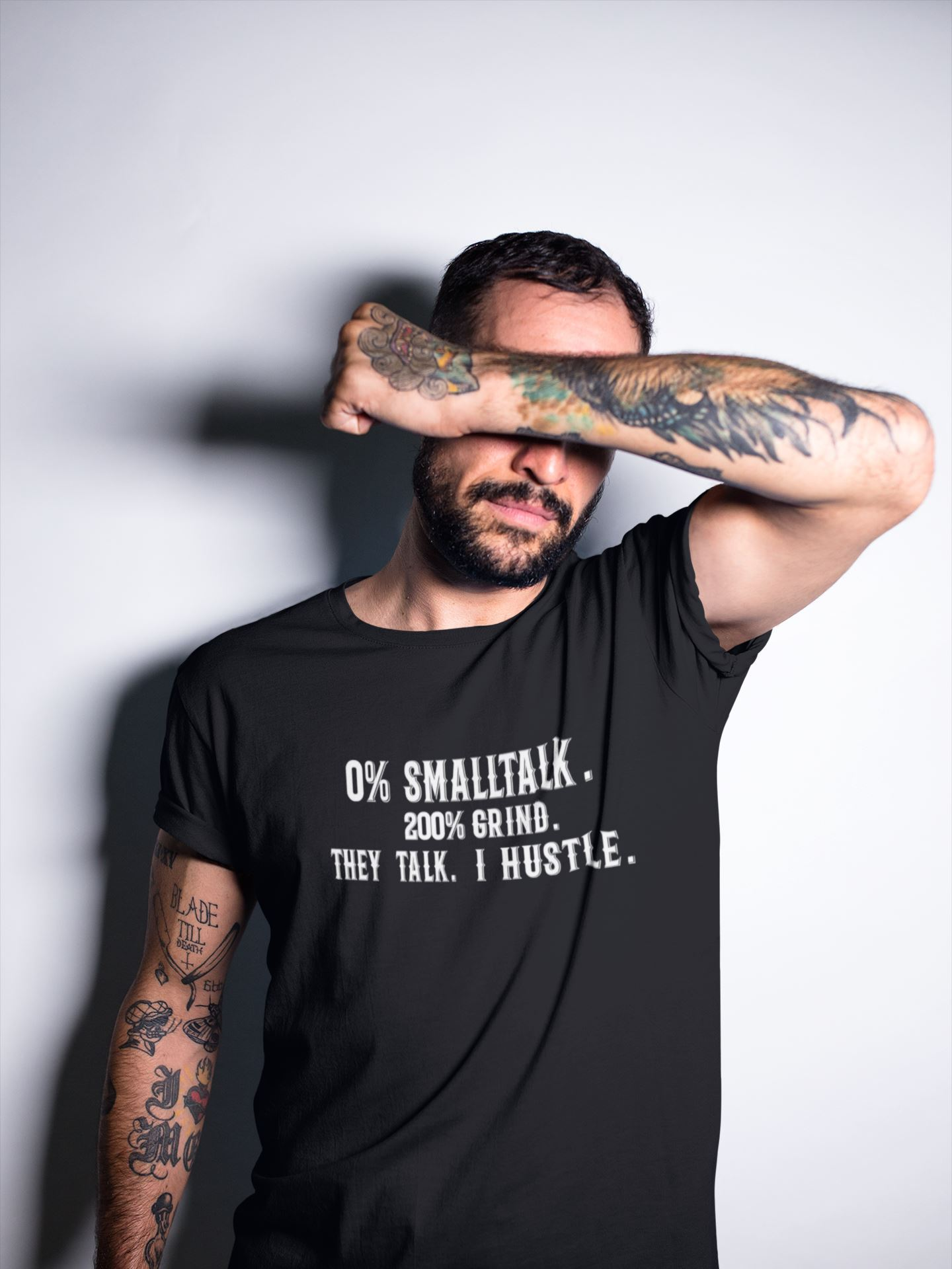 0 % SmallTalk Tee T-shirt EntrepreneurKing.co Black S