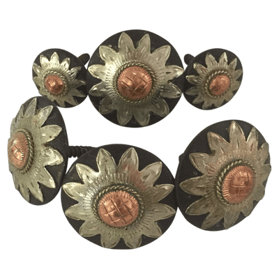 CBCONCH 109 Starburst Conchos - Corriente Buckle